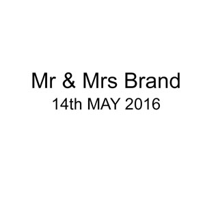 Mr & Mrs Brand